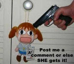post me a comment or else she gets it