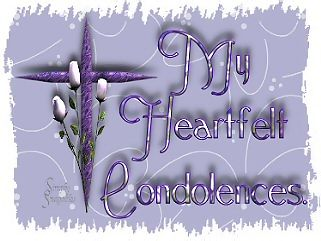 my heartfelt condolences