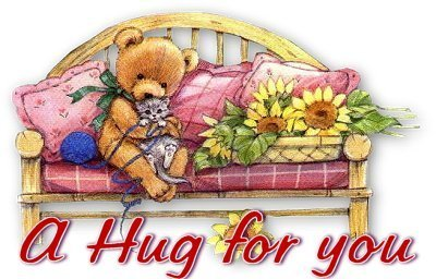 a hug for you teddy bear