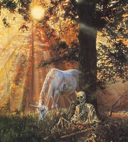 unicorn and skeleton