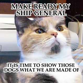 make ready my ship general it is time to show those dogs what we are made of