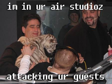i'm in your air studio attacking your guests