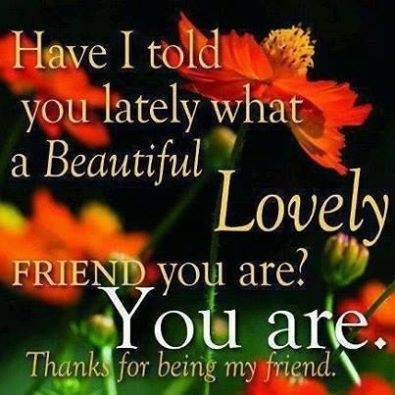 Have I told you lately what a Beautiful Lovely friend you are?