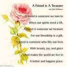 A friend is a treasure