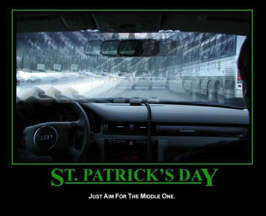 happy st patricks day just aim for the middle one