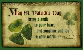may st patricks day bring a smile to your heart and sunshine and joy to your world