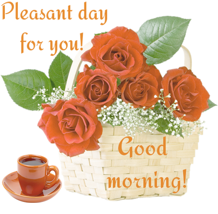 Pleasent day for you! Good morning!