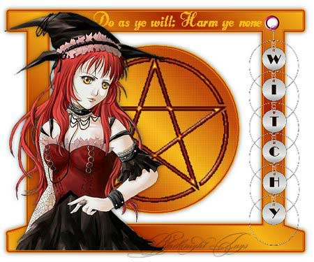 do as you will harm ye none witchy