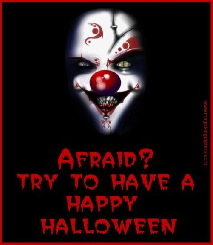 afraid? try to have a happy halloween