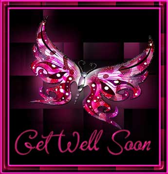 get well soon butterfly