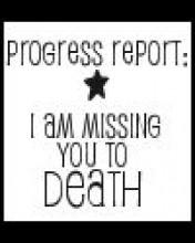progress report i am missing you to death