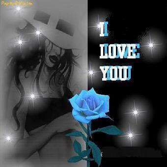 i love you blue rose