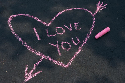 i love you chalk