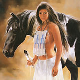 native american with horse