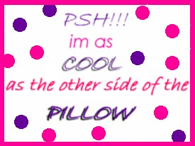 psh im as cool as the other side of the pillow