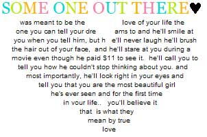 some one out there love quotes