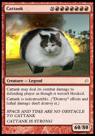 cat tank creature magic card