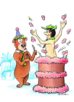 yogi bear birthday cake