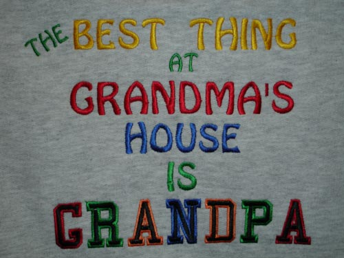 the best thing at grandmas house is grandpa