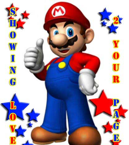 showing your page love mario