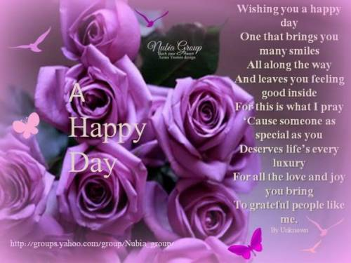 Wishing you a happy day