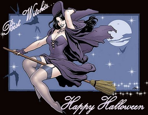 best wishes happy halloween sexy witch