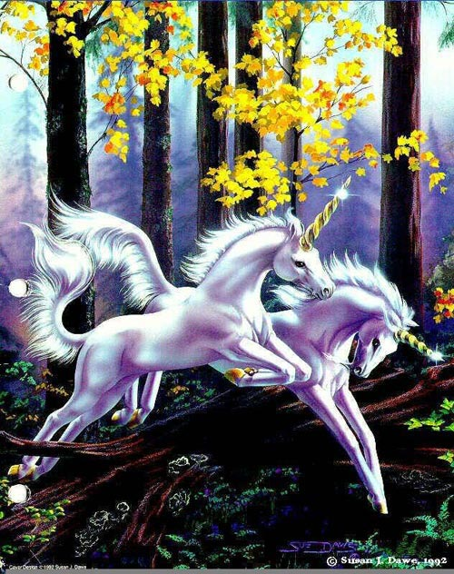 leaping unicorns