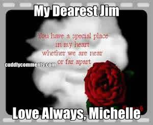 My Dearest Jim Love Always, Michelle