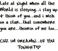 i'm dreaming of you tonight