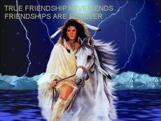 true friendship never ends friendships are forever native american on horse