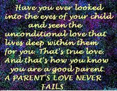 eyes of your child a parent's love never fails quotes