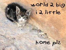 world too big i too little home please