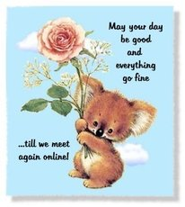 may your day be good and everything go fine til we meet again - koala bear