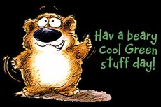 have a beary cool green stuff day